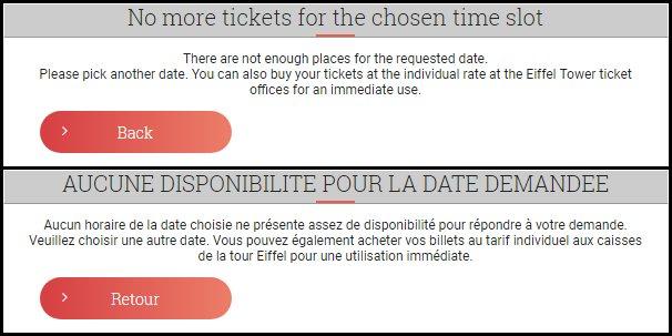 Non ci sono biglietti per quella particolare data