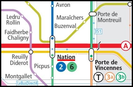 La stazione Nation dove cambieremo con il RER A