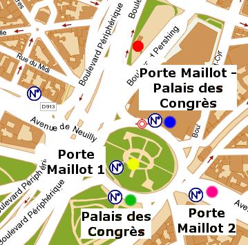Aeroporto di beauvais come raggiungere porte maillot coi - Plan de salle palais des congres porte maillot ...