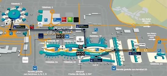 I Terminal Dello Cdg Vacanze Parigine