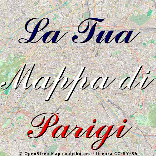 Mappe personalizzate di Parigi