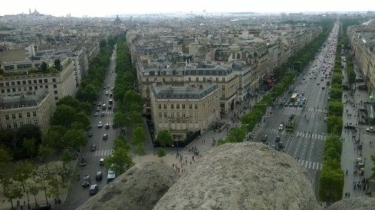 Parigi dalla sommità dell'Arco di Trionfo