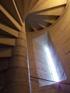 Le scale a chioccola della torre Nord