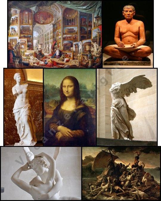 Alcune delle più importanti opere custodite nel Louvre