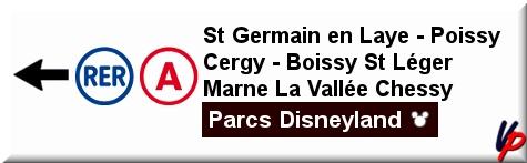 Cartello direzionale che indica il tragitto per raggiungere la zona dedicata al RER A