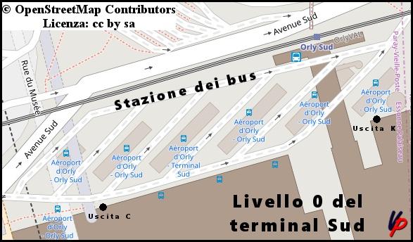 Stazione dei bus al terminal Sud