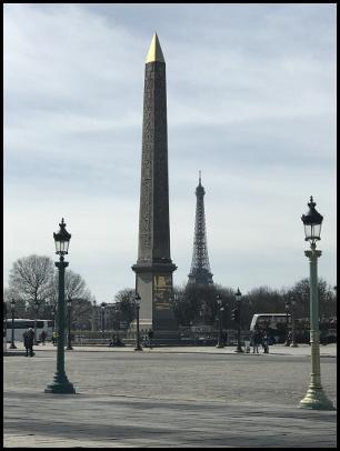L'obelisco egizio di place de la Concorde