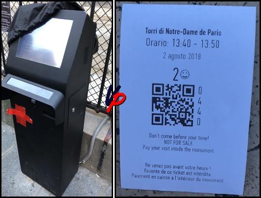 Il distributore automatico e il biglietto promemoria. Per gentile concessione di Ice