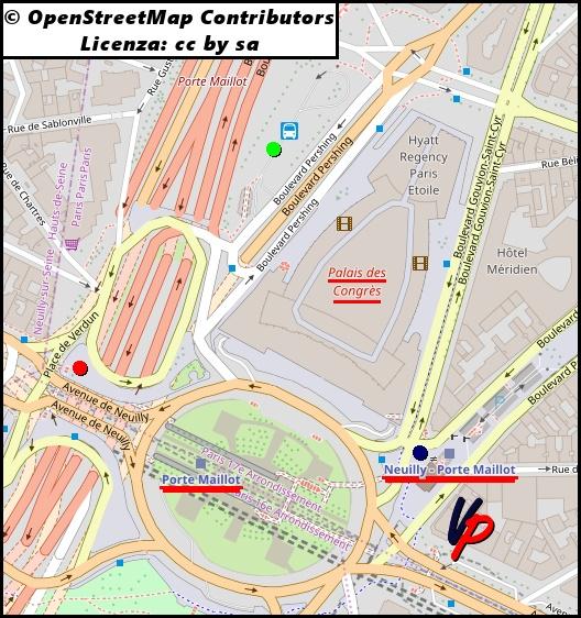 Cartina Di Parigi E Dintorni.Mappa Di Porte Maillot Vacanze Parigine