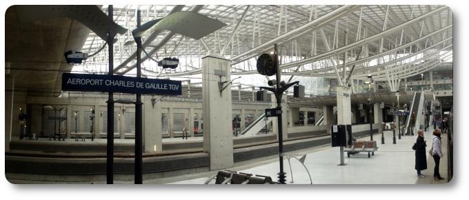 La stazione del TGV allo CDG