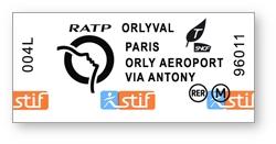 """Biglietto combinato """"Orlyval + RER B"""""""