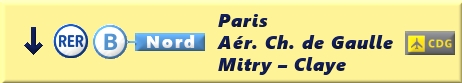 Cartello direzionale che indica il percorso da seguire per raggiungere la banchina d'attesa dei treni diretti verso Parigi