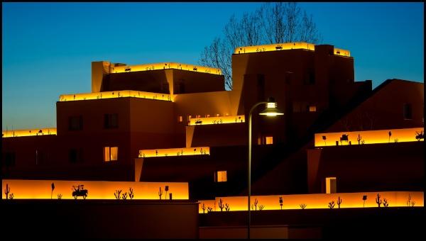 L'hotel Santa Fe al tramonto