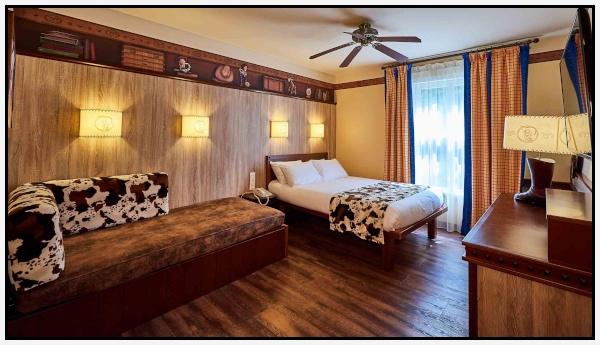 Una delle due camere-tipo dell'hotel Cheyenne