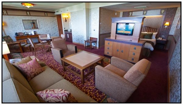 La suite dell'hotel Sequoia Lodge