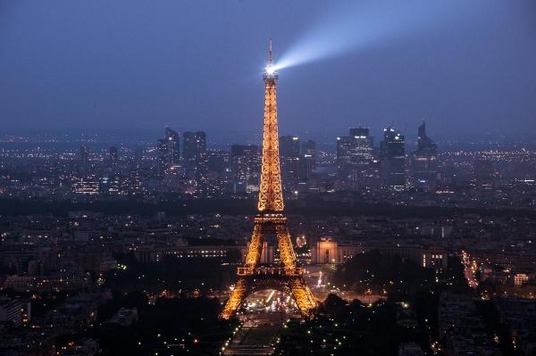 La tour Eiffel vista dalla tour Montparnasse