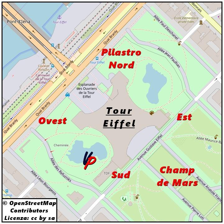I pilastri della torre Eiffel