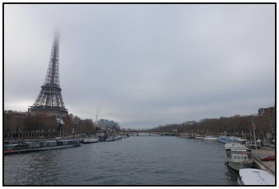 La tour Eiffel vista dalla passerella Debilly