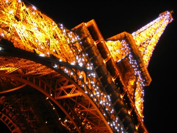 La tour Eiffel scintillante